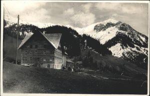 Walsertal Kleinwalsertal Pension Stern Fontanella / Oesterreich /