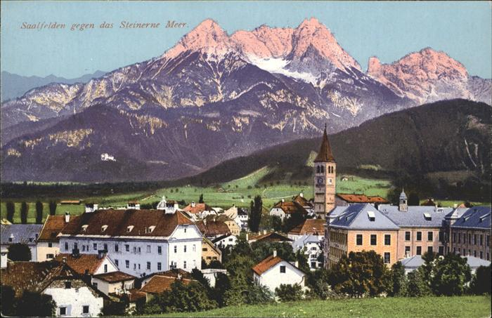 Saalfelden Steinernes Meer Totalansicht Steinernes Meer / Saalfelden am Steinernen Meer /Pinzgau-Pongau