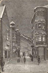 Linz Donau Altstadt Kremsmuenster-Stiftshaus Federzeichnung / Linz /Linz-Wels