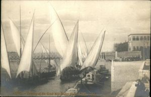 Cairo Egypt Schiff Great Nil Bridge / Cairo /
