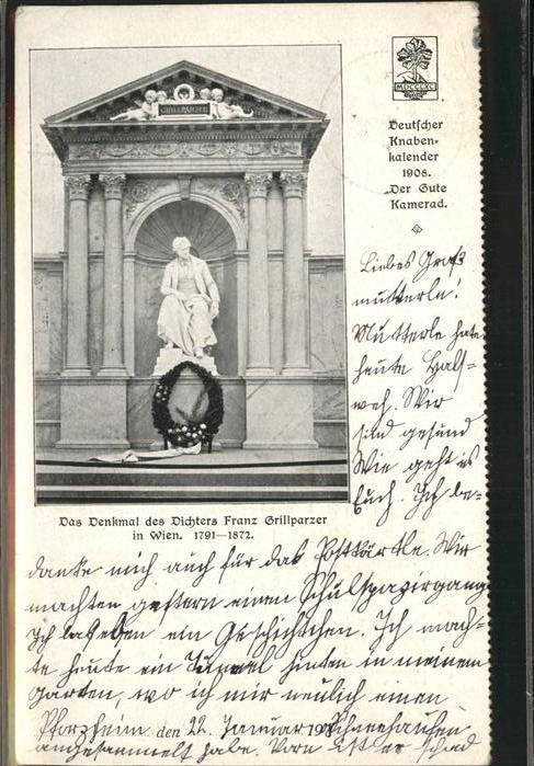 Wien Denkmal Dichters Franz Grillparzer / Wien /Wien