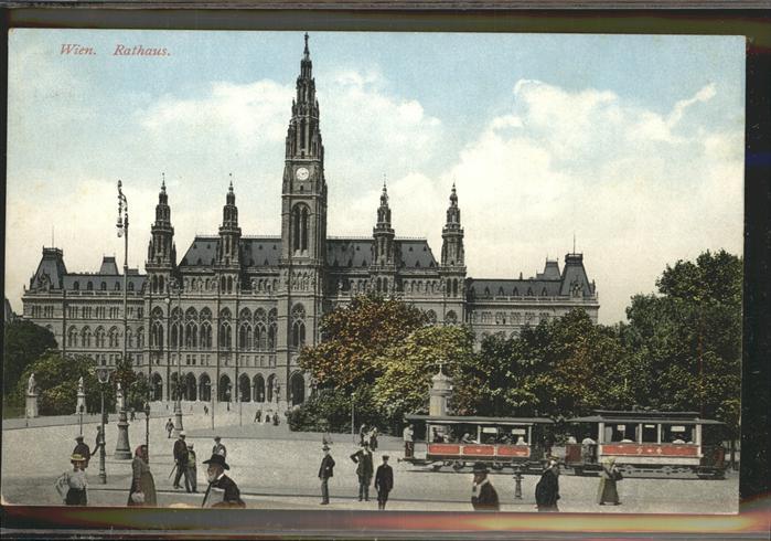 Wien Rathaus Strassenbahn / Wien /Wien