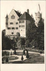 Taxis Schloss  Springbrunnen / Autos /