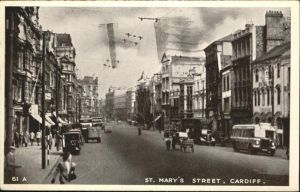 Cardiff Wales St. mary`s Street / Cardiff /Cardiff and Vale of Glamorgan