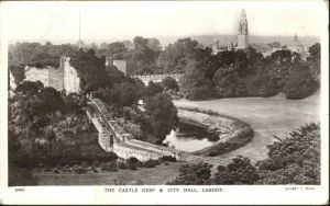 Cardiff Wales Castle Keep & City Hall / Cardiff /Cardiff and Vale of Glamorgan