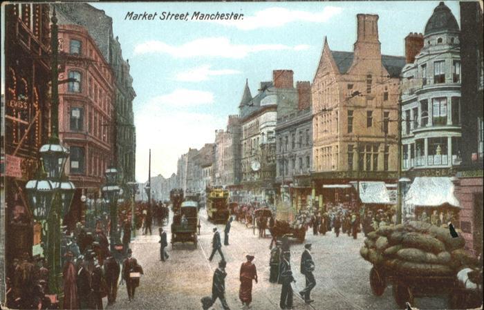 Manchester Market Street Strassenbahn  / Manchester /Greater Manchester South
