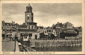 Deventer Gezicht op Libuinuskerk van Schipbrug af *