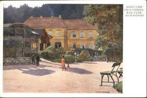 Bad Tatzmannsdorf Burgenland Herz- und Frauenheilbad Kuenstlerkarte Alb. Kollmann / Bad Tatzmannsdorf /Suedburgenland