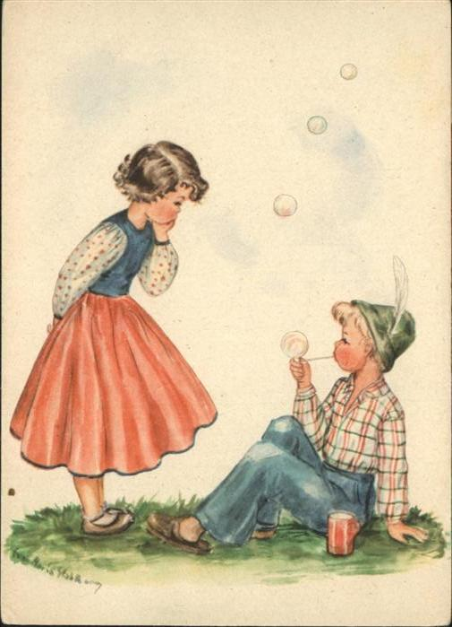 wq95852 Baby Nursery Bebe Seifenblasen Kategorie. Kinder Alte Ansichtskarten