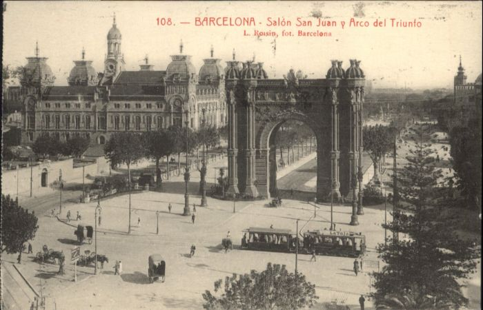 Barcelona Strassenbahn Salon San Juan Arco Triunto x