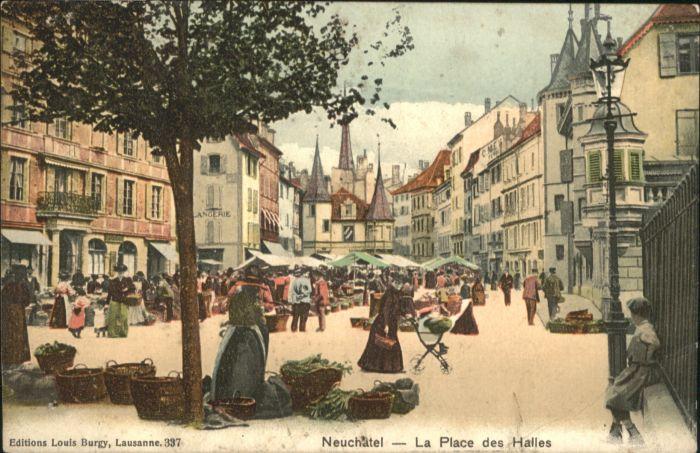 Neuchatel NE Neuchatel La Place des Halles x / Neuchatel /Bz. Neuchâtel