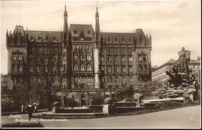 Stettin Rathaus Manzelbrunnen *