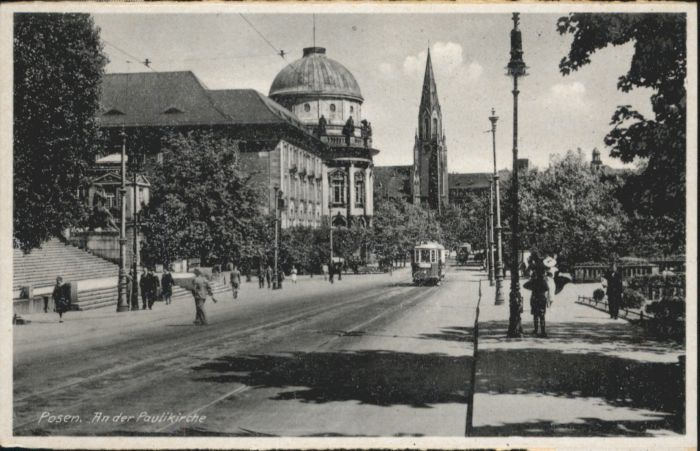 Posen Poznan Posen Strassenbahn Paulikirche * / Poznan /
