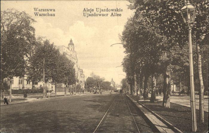 Warszawa Warschau Aleje Ujazdowskie Ujazdowser Allee *