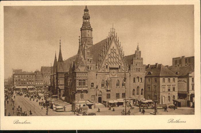 wu84736 Breslau Niederschlesien Breslau Rathaus * Kategorie. Wroclaw Alte Ansichtskarten