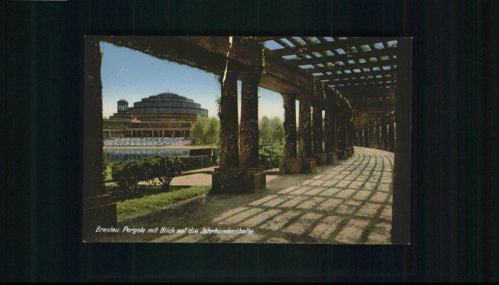 wu84751 Breslau Niederschlesien Breslau Jahrhunderthalle * Kategorie. Wroclaw Alte Ansichtskarten