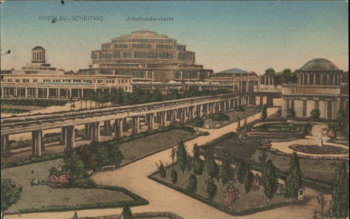 wu84764 Breslau Niederschlesien Breslau Scheitnig Jahrhunderthalle Park x Kategorie. Wroclaw Alte Ansichtskarten