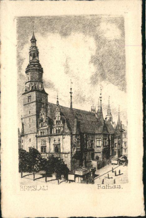 wu84765 Breslau Niederschlesien Breslau Rathaus  * Kategorie. Wroclaw Alte Ansichtskarten