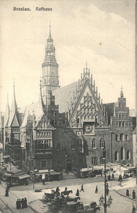 wu84767 Breslau Niederschlesien Breslau Rathaus * Kategorie. Wroclaw Alte Ansichtskarten