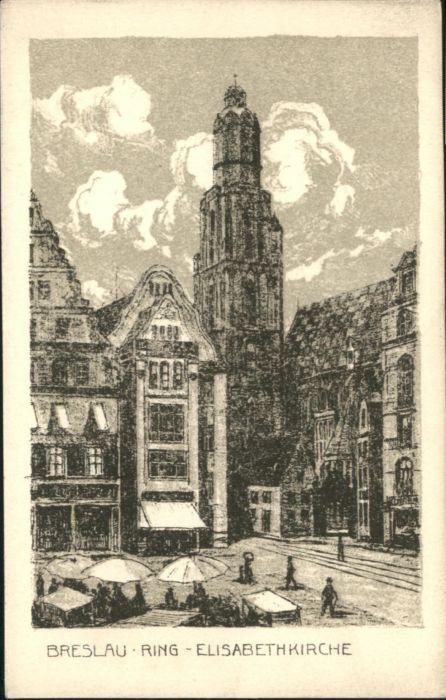 wu84775 Breslau Niederschlesien Breslau Elisabeth Kirche  * Kategorie. Wroclaw Alte Ansichtskarten