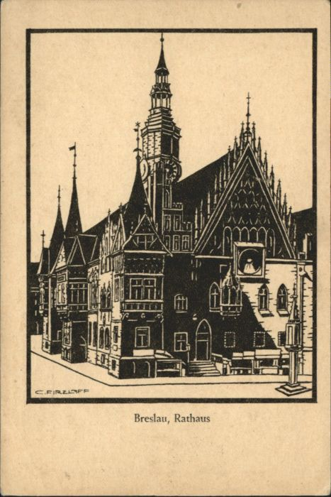 wu84978 Breslau Niederschlesien Breslau Rathaus * Kategorie. Wroclaw Alte Ansichtskarten