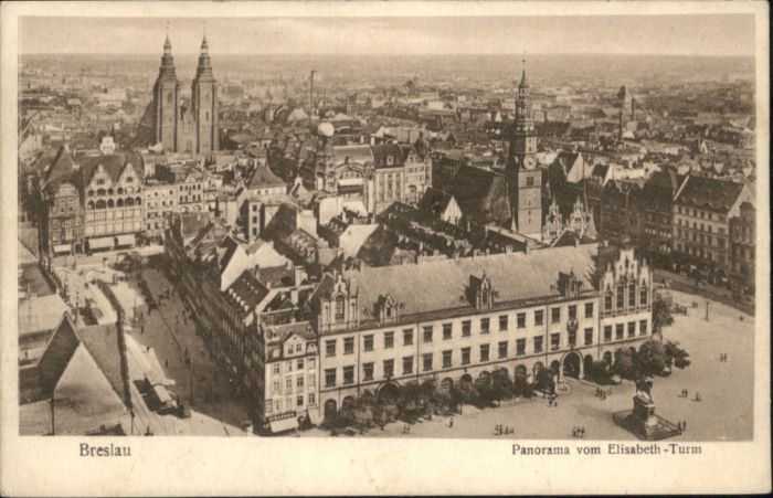 wu86796 Breslau Niederschlesien Breslau Elisabeth Turm x Kategorie. Wroclaw Alte Ansichtskarten
