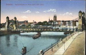 wu87486 Breslau Niederschlesien Breslau Kaiserbruecke Dom Schiffe x Kategorie. Wroclaw Alte Ansichtskarten