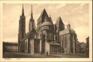 wu87497 Breslau Niederschlesien Breslau Dom * Kategorie. Wroclaw Alte Ansichtskarten