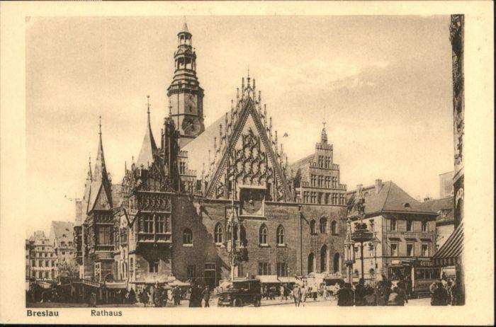 wu87498 Breslau Niederschlesien Breslau Rathaus * Kategorie. Wroclaw Alte Ansichtskarten