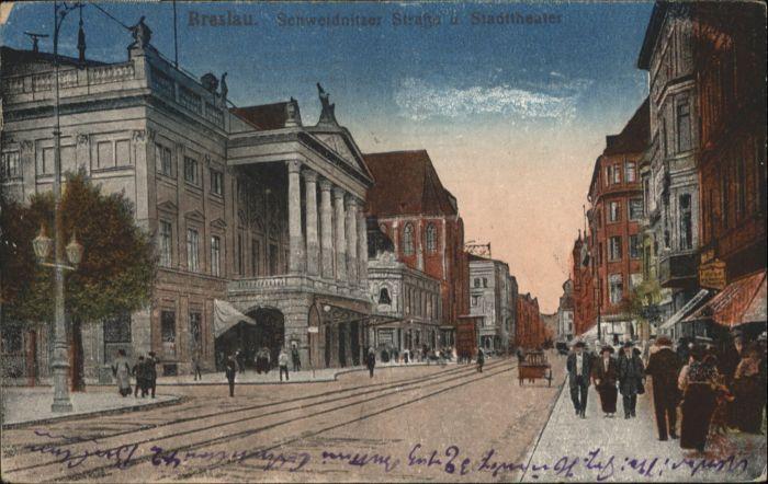 wu87522 Breslau Niederschlesien Breslau Schweidnitzer Strasse Stadttheater x Kategorie. Wroclaw Alte Ansichtskarten