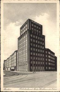 wu87532 Breslau Niederschlesien Breslau Postscheckamt Hochhaus x Kategorie. Wroclaw Alte Ansichtskarten