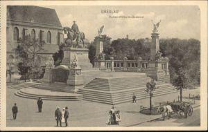 wu87536 Breslau Niederschlesien Breslau Kaiser Wilhelm Denkmal  * Kategorie. Wroclaw Alte Ansichtskarten