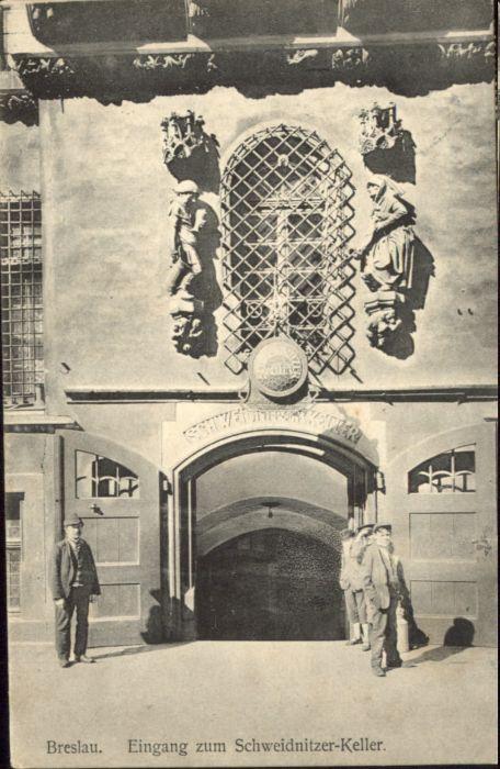 wu87547 Breslau Niederschlesien Breslau Schweidnitzer Keller x Kategorie. Wroclaw Alte Ansichtskarten