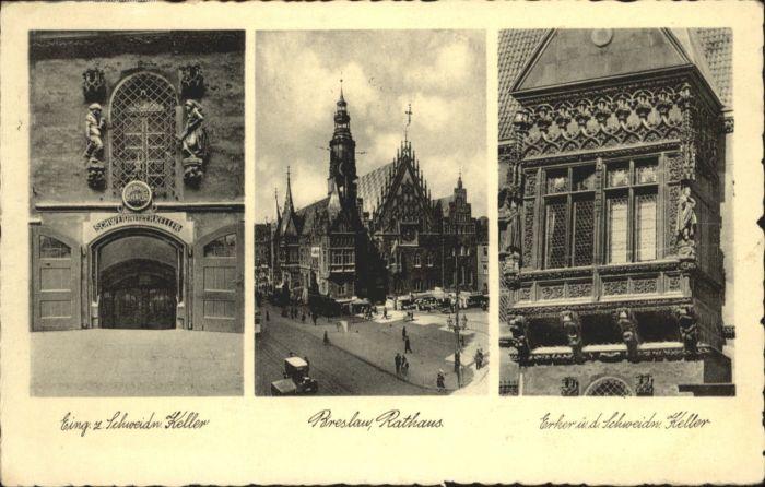 wu87551 Breslau Niederschlesien Breslau Rathaus Schweidnitzer Keller x Kategorie. Wroclaw Alte Ansichtskarten