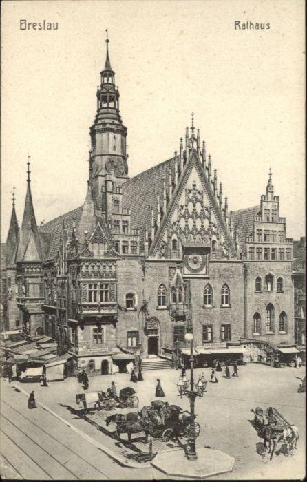 wu87574 Breslau Niederschlesien Breslau Rathaus x Kategorie. Wroclaw Alte Ansichtskarten