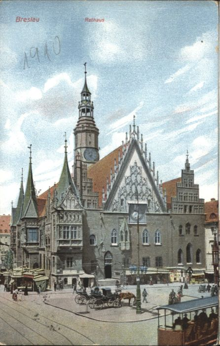 wu87576 Breslau Niederschlesien Breslau Rathaus x Kategorie. Wroclaw Alte Ansichtskarten