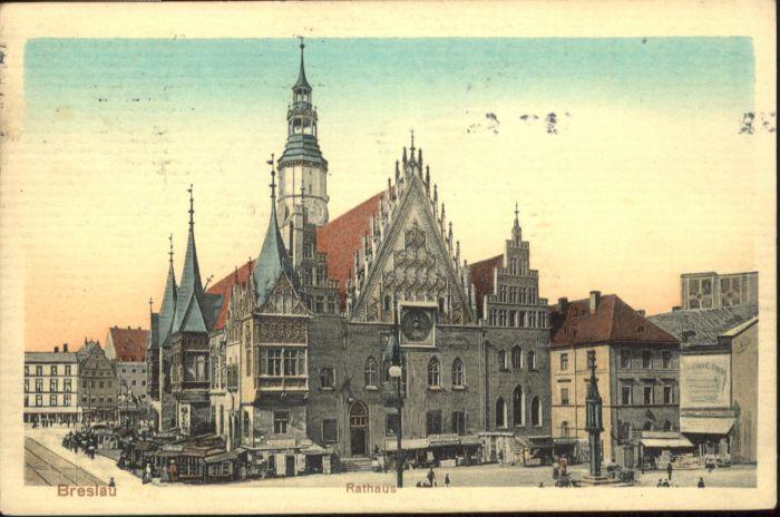 wu87579 Breslau Niederschlesien Breslau Rathaus x Kategorie. Wroclaw Alte Ansichtskarten