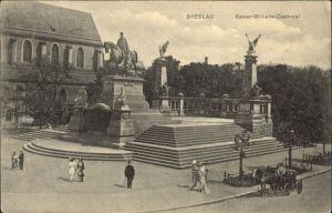wu87581 Breslau Niederschlesien Breslau Kaiser Wilhelm Denkmal  Kutsche x Kategorie. Wroclaw Alte Ansichtskarten