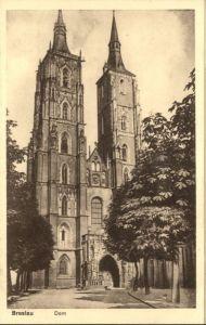 wu87584 Breslau Niederschlesien Breslau Dom * Kategorie. Wroclaw Alte Ansichtskarten
