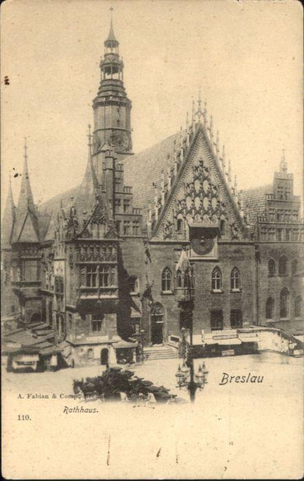 wu87586 Breslau Niederschlesien Breslau Rathaus * Kategorie. Wroclaw Alte Ansichtskarten