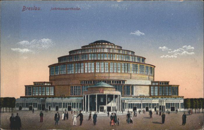 wu87652 Breslau Niederschlesien Breslau Jahrhunderthalle * Kategorie. Wroclaw Alte Ansichtskarten