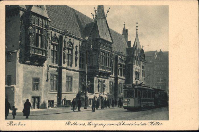 wu87655 Breslau Niederschlesien Breslau Rathaus Schweidnitzer Keller * Kategorie. Wroclaw Alte Ansichtskarten