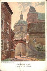 wu88148 Breslau Niederschlesien Breslau Dom Kuenstler Guenther Naumann * Kategorie. Wroclaw Alte Ansichtskarten