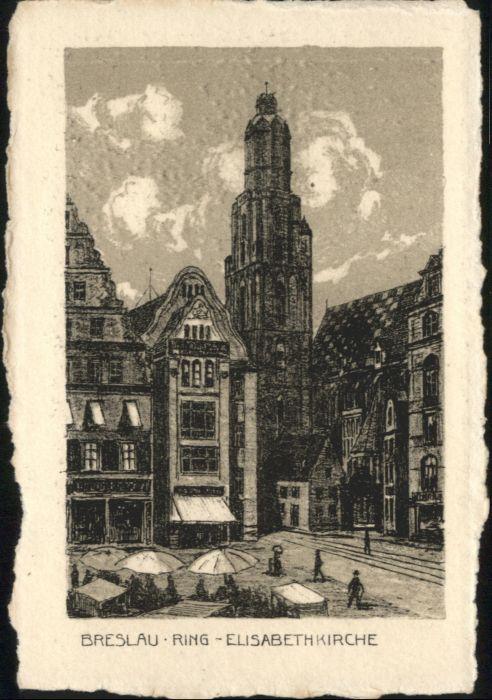 wu88151 Breslau Niederschlesien Breslau Elisabeth Kirche  * Kategorie. Wroclaw Alte Ansichtskarten