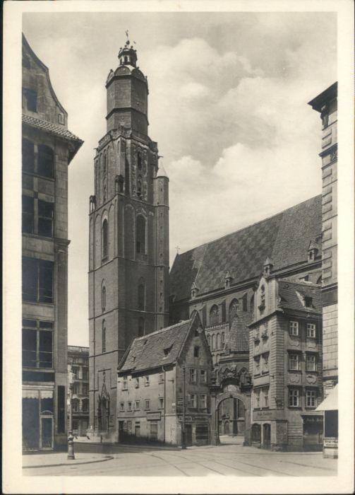 wu88158 Breslau Niederschlesien Breslau Elisabeth Kirche  * Kategorie. Wroclaw Alte Ansichtskarten