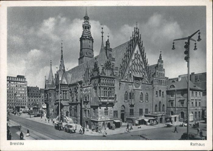 wu88159 Breslau Niederschlesien Breslau Rathaus  * Kategorie. Wroclaw Alte Ansichtskarten