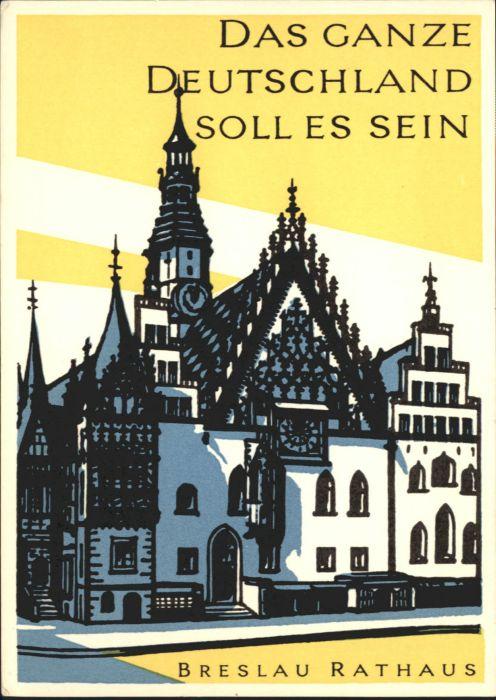 wu88162 Breslau Niederschlesien Breslau Rathaus  * Kategorie. Wroclaw Alte Ansichtskarten