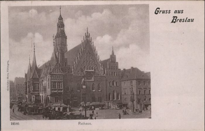wu88193 Breslau Niederschlesien Breslau Rathaus * Kategorie. Wroclaw Alte Ansichtskarten