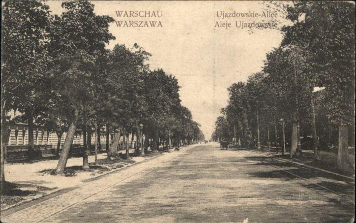 Warschau Warszawa Ujazdowskie Allee *