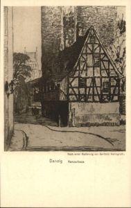 Danzig Kanzelhaus nach Radierung Berthold Hellingrath *
